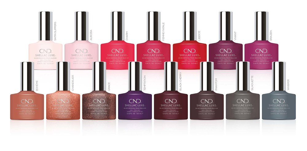15 Exclusive CND Shellac Luxe shades