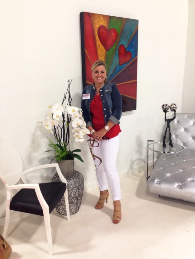 Carolyn D. Rossinsky at the Miami Beach Convention Center Home Show, in collaboration with Amelia Rozas Interior Design.