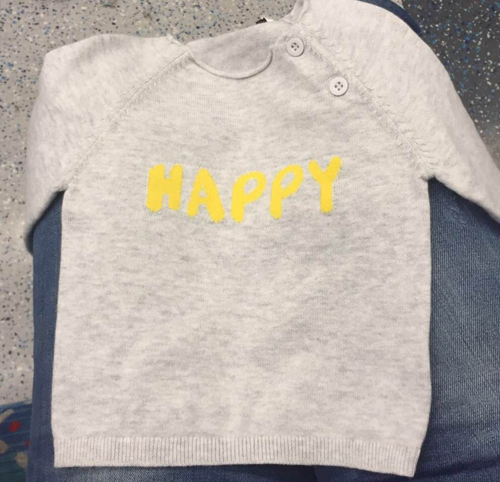 One of the first things I bought for Olivia, I always knew she was a happy person