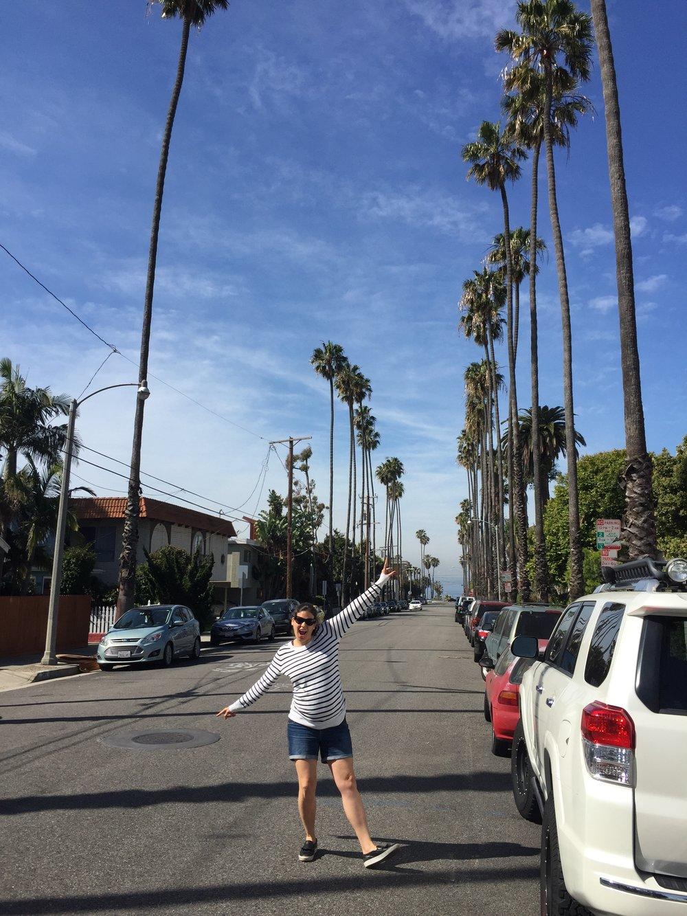 Olivia and I in Santa Monica, California for my birthday