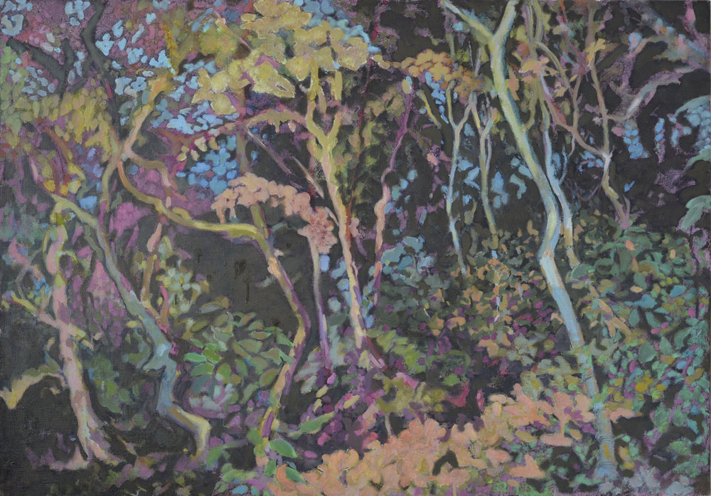 Woodland, acrylic on canvas, 70x100cms.jpg