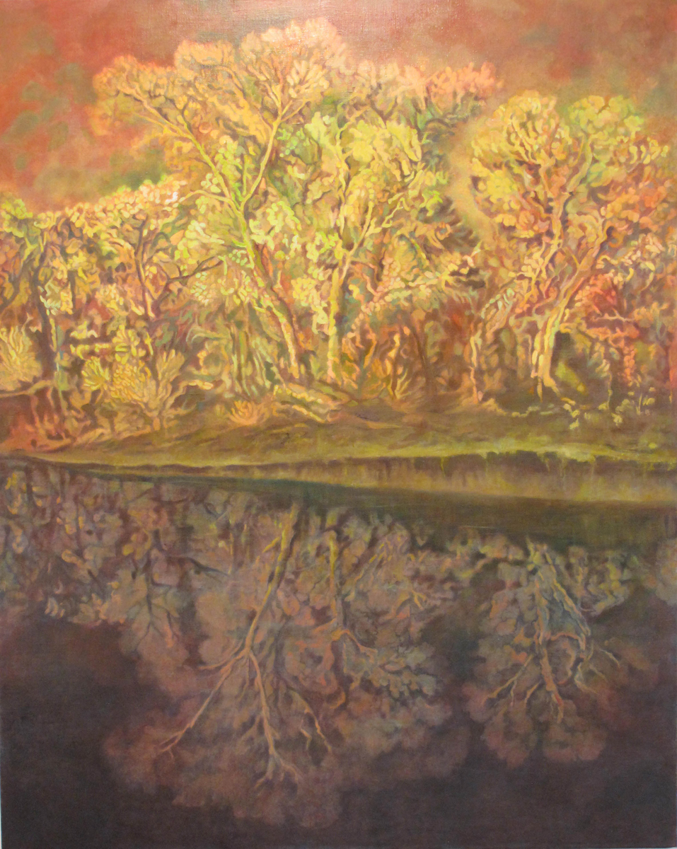 The woods by the lake,oil on canvas,150x120cms,email.jpg