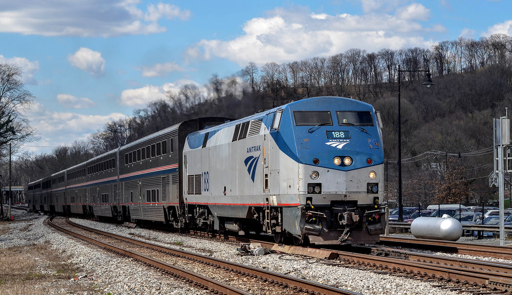 Amtrak 188.  Photo by Mark F. Levisay