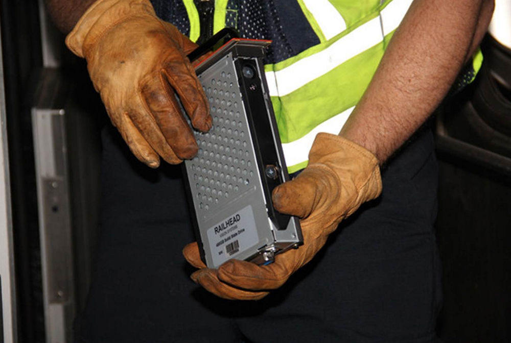 Event Recorder from Cab Car.  Photo by Laquan Hudson, NTSB
