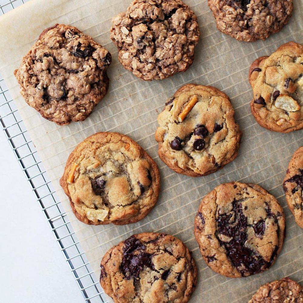 Nous avons un assortiment de cookies qui change tout les jours! Parfait pour satisfaire toutes les envies!