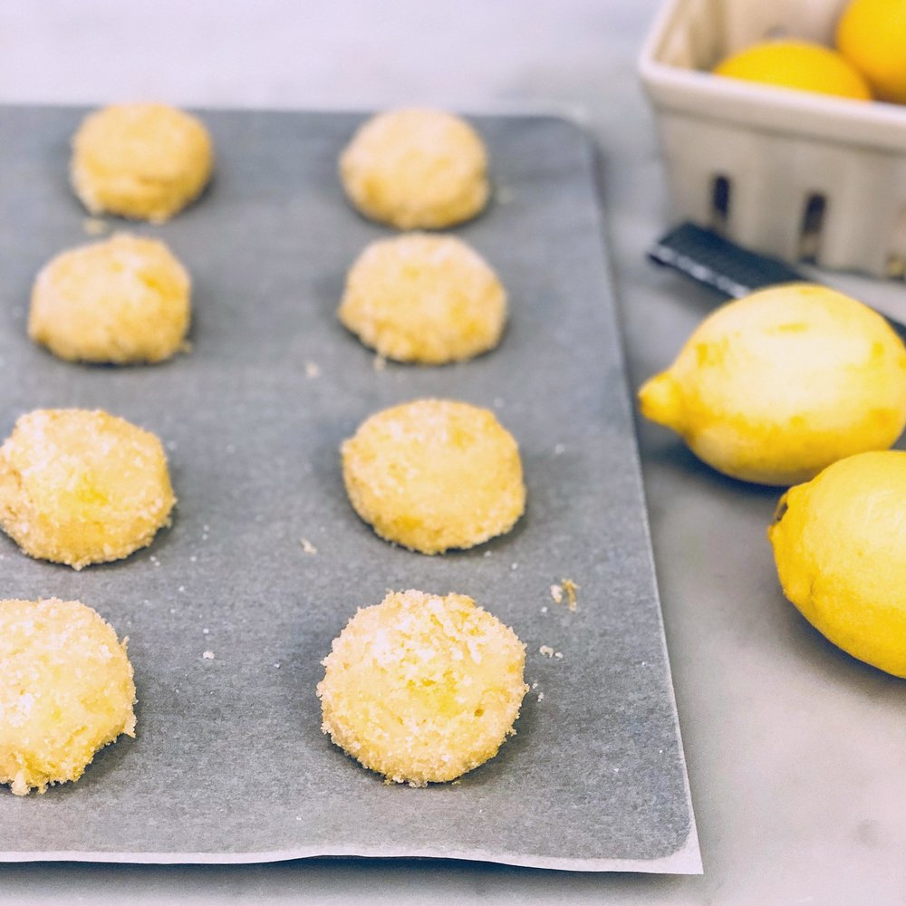 Lemon Sugar Cookies -