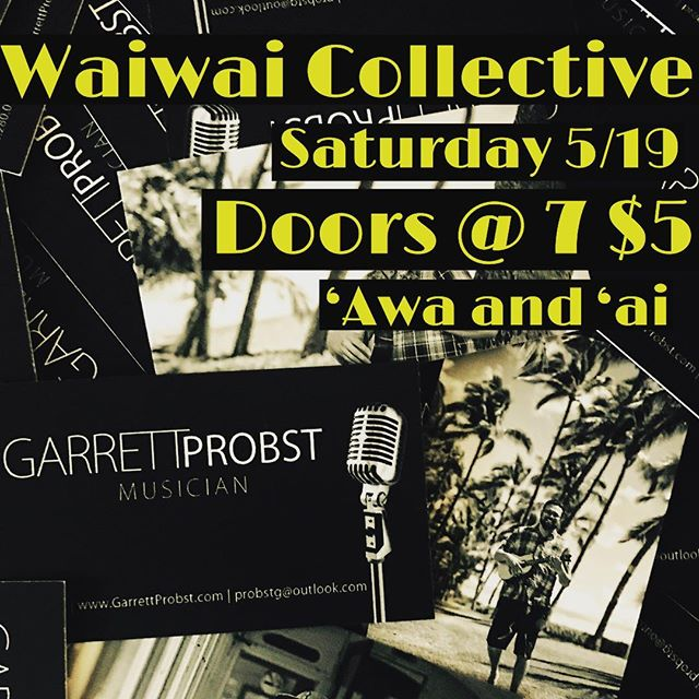 What's going on Oahu fam.  I'm back into for another set @waiwaicollective with @nowhyhi.  Come out and enjoy some improv and music by yours truly. The action starts at 7:30. $5 at the door. Come down and support local arts.