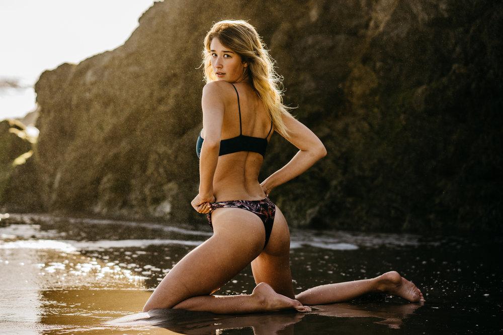 @taylor_cochrane &@biancavierra | @rivibikinis  Lechuza Beach - Malibu, CALIFORNIA