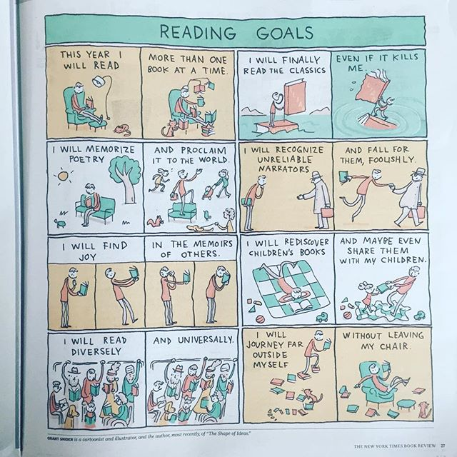 This pretty much sums up my reading goals for the year. #bookstagram #readmorebooks #newyorktimesbookreview