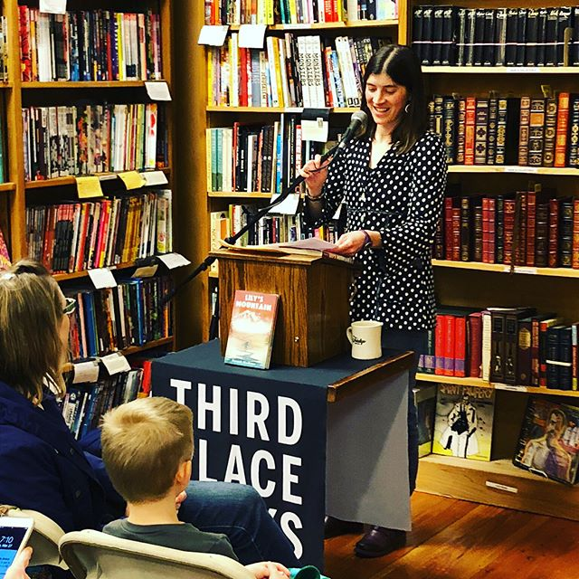 Thank you, @thirdplacebooks for hosting me in Seattle this week to share #lilysmountain. It was an honor to be able to talk to school kids @thebushschool and @einsteinpride and to do an event @ravennathirdplacebooks. #mglit #adventurebooksforkids #hmhkids @hmhkids