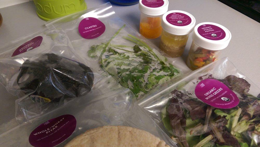 Ingredients for Thai Veggie Pitas