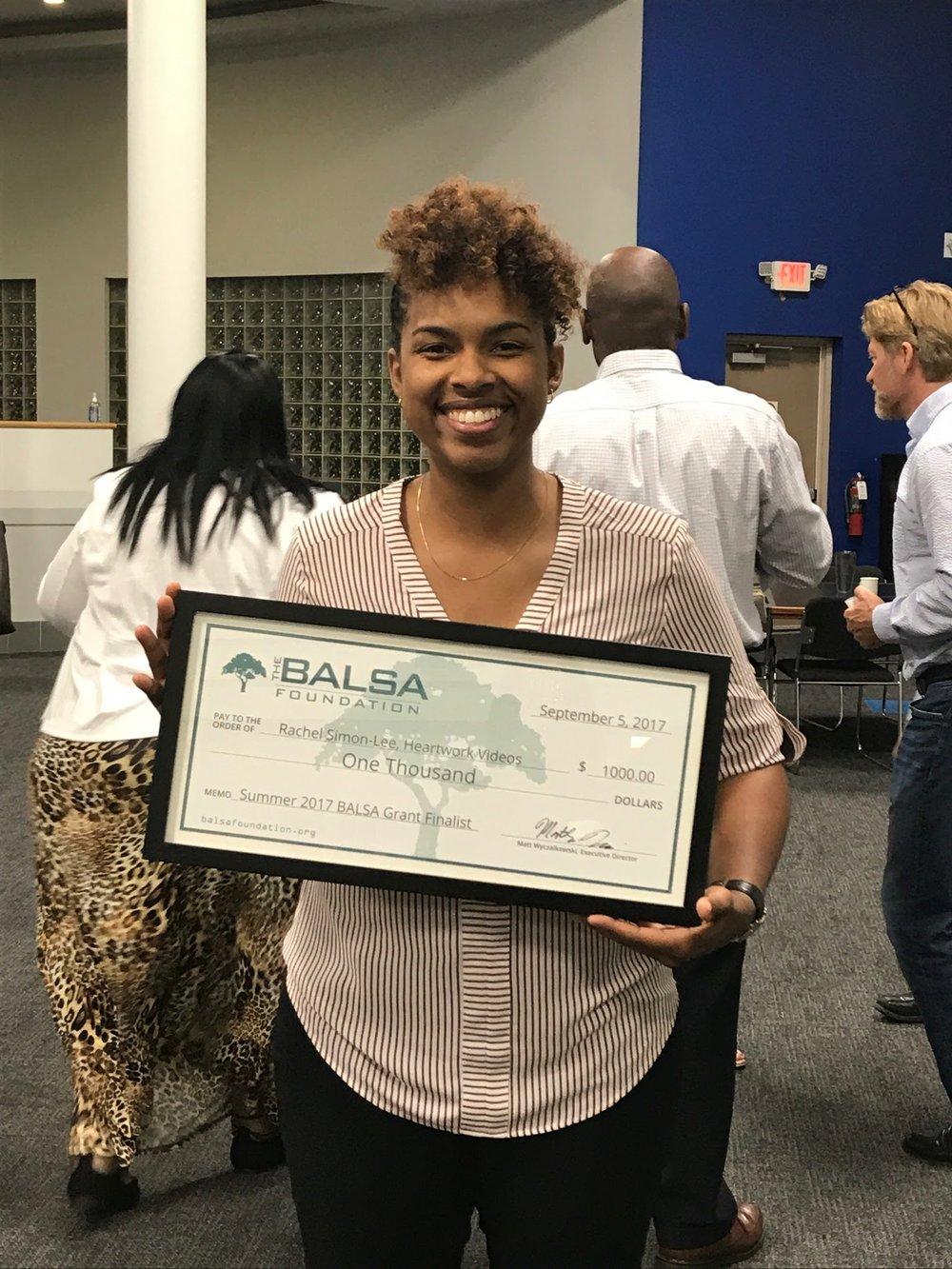 Heartwork Videos founder, Rachel Simon-Lee, BALSA Grant finalist