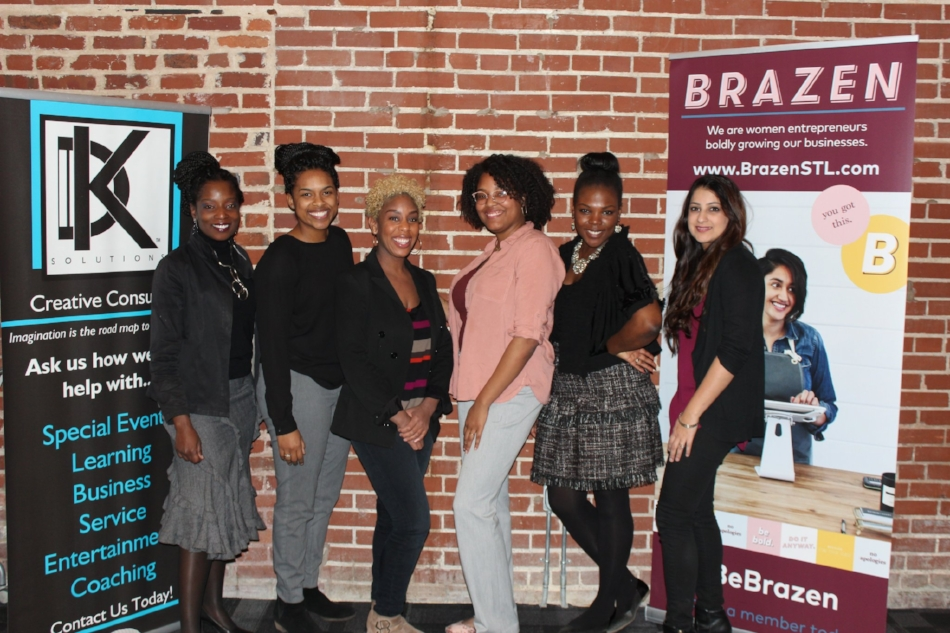6 Winners of Be Seen Pitch Training and Competition, photo by Brazen Global (Rachel Simon-Lee, second from the left)