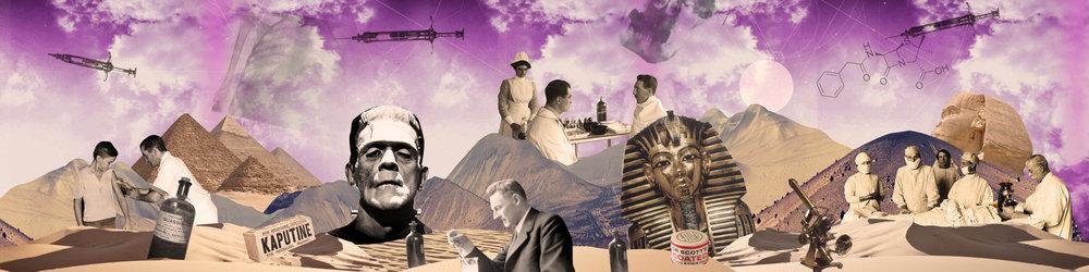 Les premiers vaccins, la radiographie, découverte de la tombe de Toutankhamon./ First vaccins, radiography & the discovery of Tutankhamun's tomb