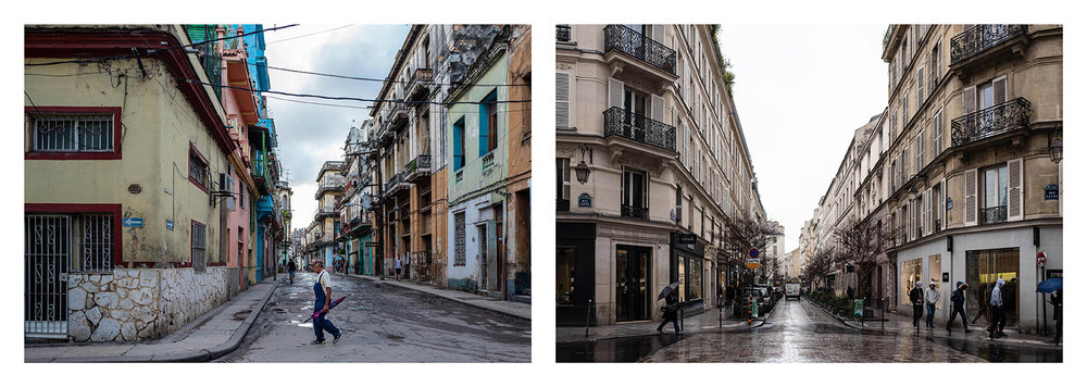 City streets. Havana 2017, Paris 2018