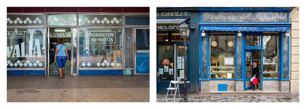 Shop fronts. Havana 2017, Paris 2018
