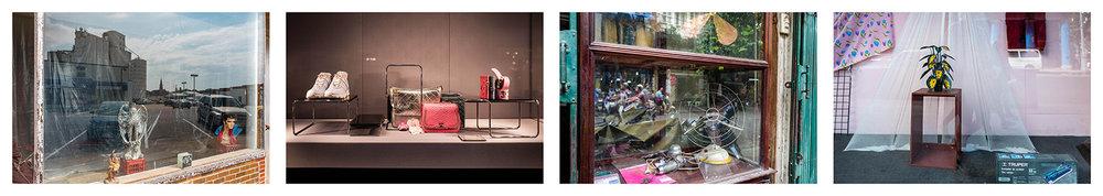 Shop windows. Iowa 2017, Paris 2018, Hanoi 2016, Havana 2017