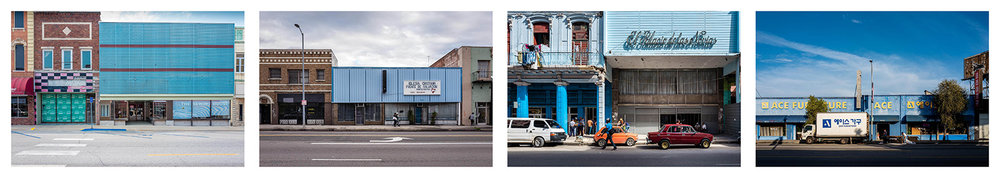 Store fronts. Iowa 2017, Los Angeles 2017, Havana 2017, Los Angles 2017