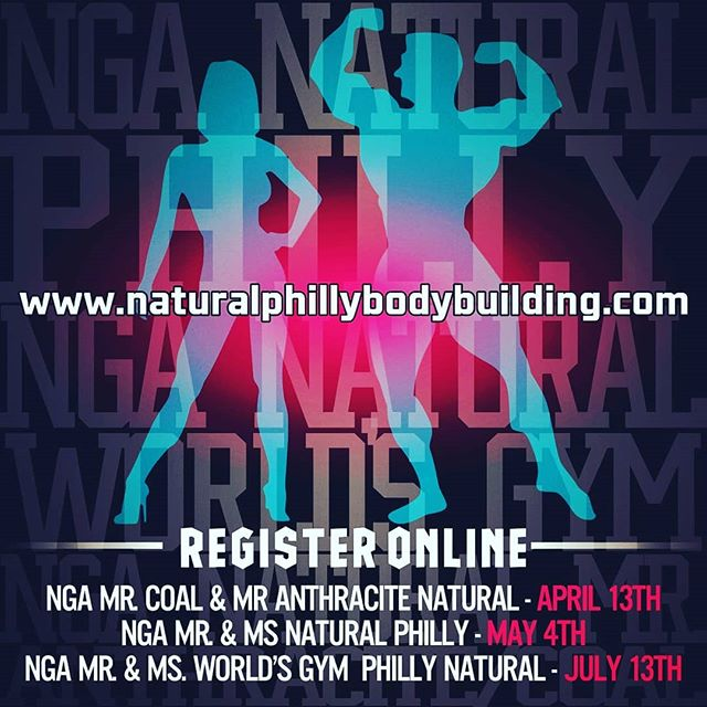 Register for all of our shows at www.naturalphillybodybuilding.com through the link in our bio.