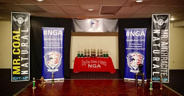 The 7th Mr. ANTHRACITE/COAL Natural Stage is set.  What a beautiful day in Pottsville for some Natural Bodybuilding Competition.  #nga #nganatural #nganaturalphilly #naturalphilly #naturalbodybuilding #worldsgym #figure #physique #classicphysique #philadelphiabodybuilding #mranthracite #mrcoal #worldsgym