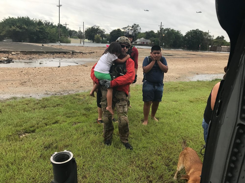 The 920th Rescue Wing rescues people stranded after Hurricane Harvey. (Photo credit: U.S. Air Force photo/Tech. Sgt. Lindsey Maurice)
