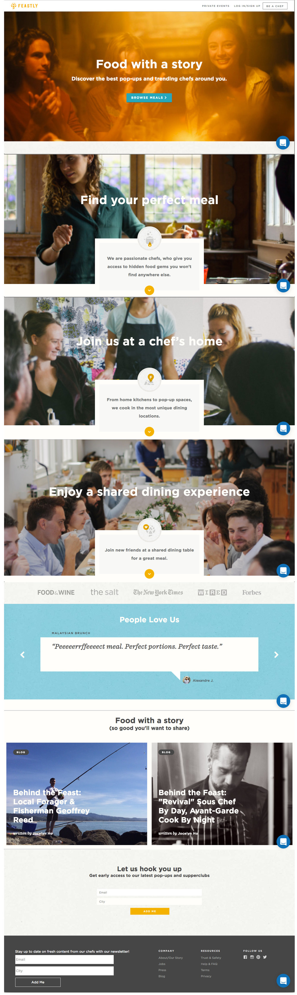 Original landing page (click for full view)
