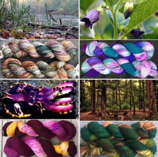 Spring colored yarn