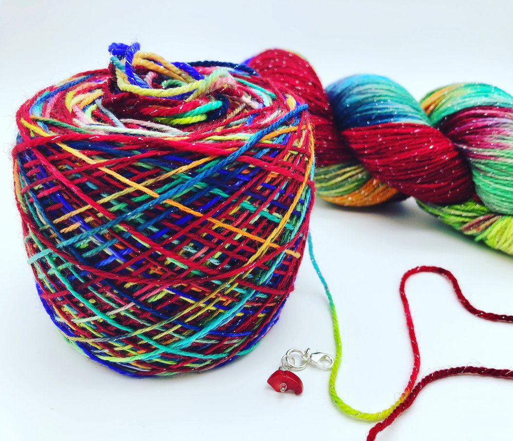 Sparkle colorful yarn