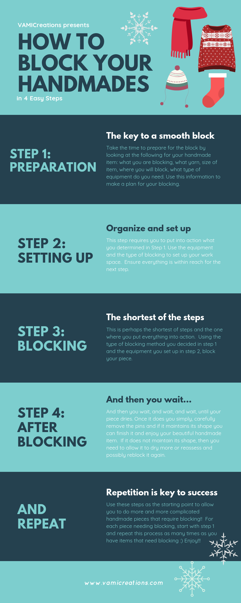 How to Block Your Handmade Items Infographic