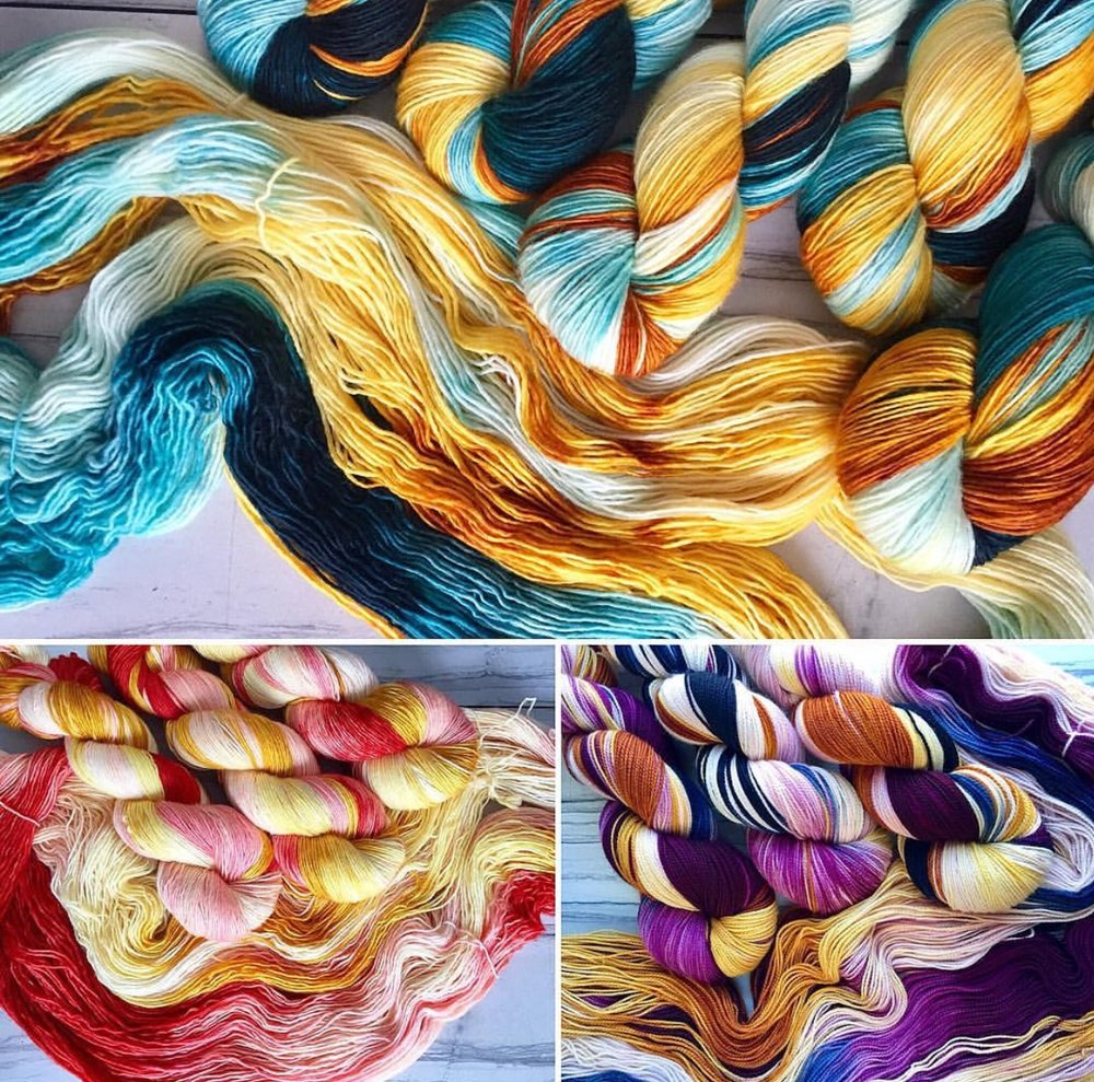 Rose Hill Yarns absolutely beautiful colorways, how to choose? :)
