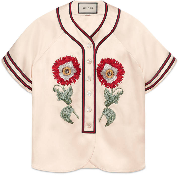 Gucci Embroidered Duchesse Top
