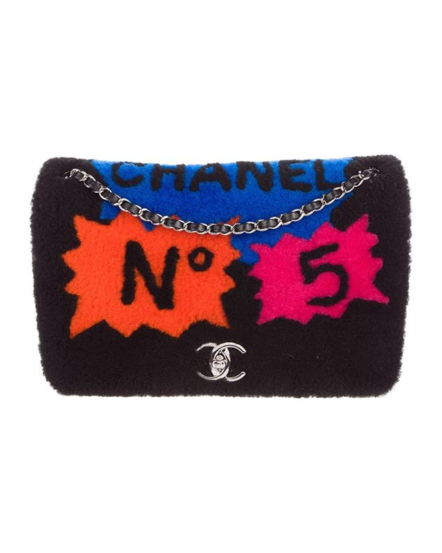 Chanel|Chanel No 5 Comic Shearling Flap Bag