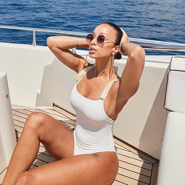 Draya Looks HOT In This Lovers + Friends Shine Bright One Piece Swimsuit