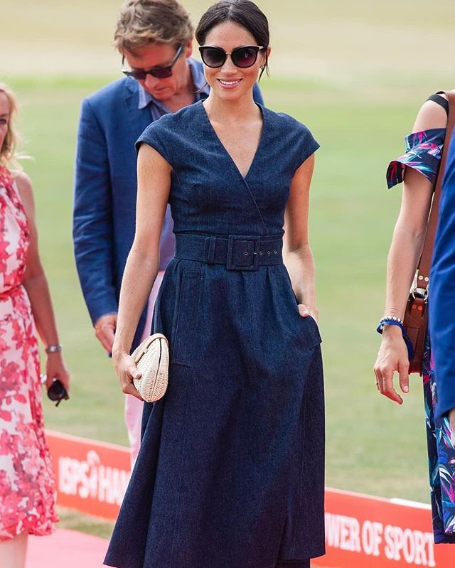 meghan marble in denim carolina herrera