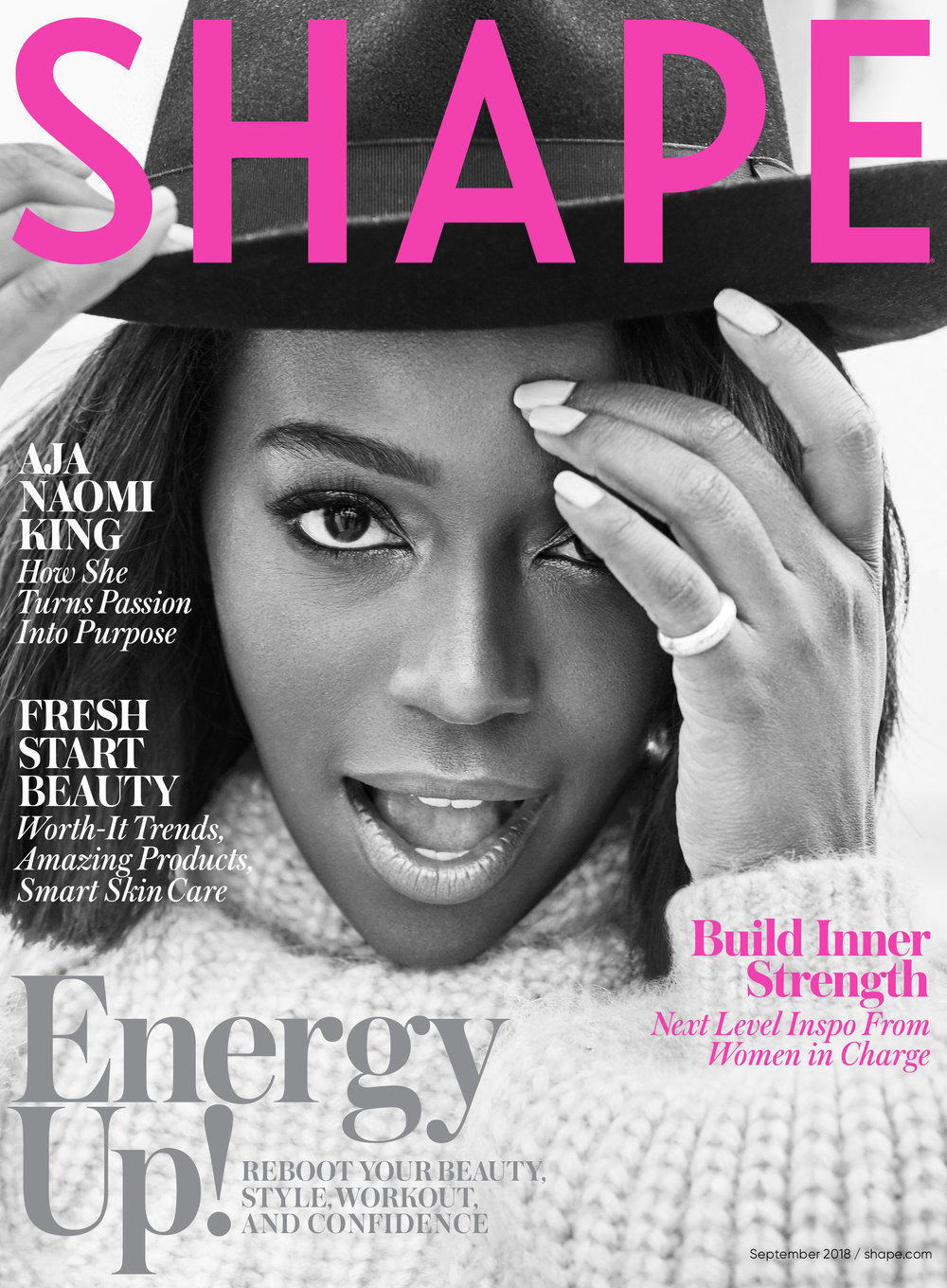 Aja Naomi King Covers Shape Magazine