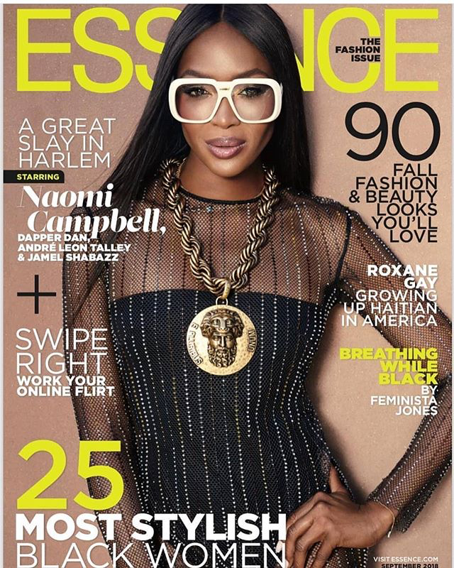 Naomi Campbell Covers Essence Magazine