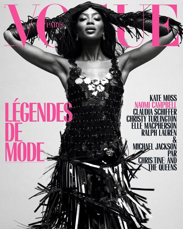 Naomi Campbell Covers Vogue Paris