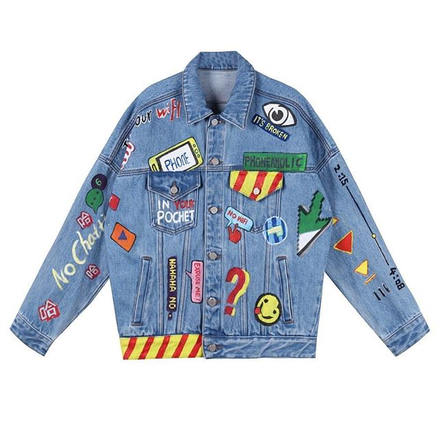 Annakiki|Hand Painted Denim Jacket