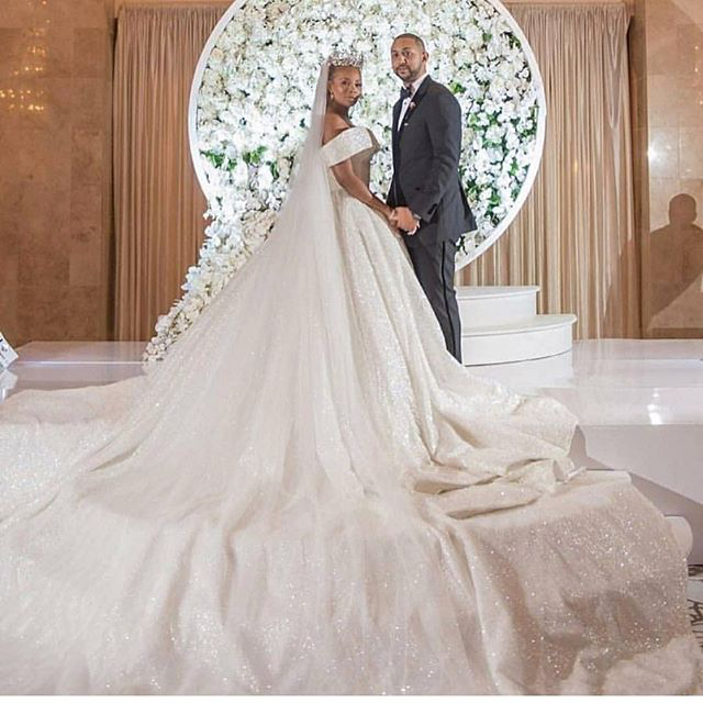 Eva Marcille Looked Amazing In Her Daughters Of Nonyelum Royal Bridal Gown x Veil.