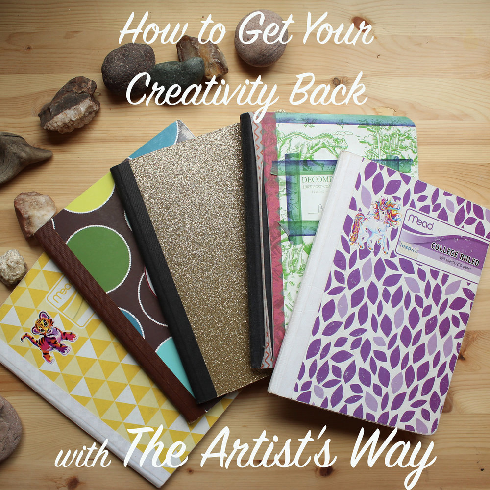 "The creative recovery process includes ""Morning Pages,"" a form of journaling specific to The Artist's Way."