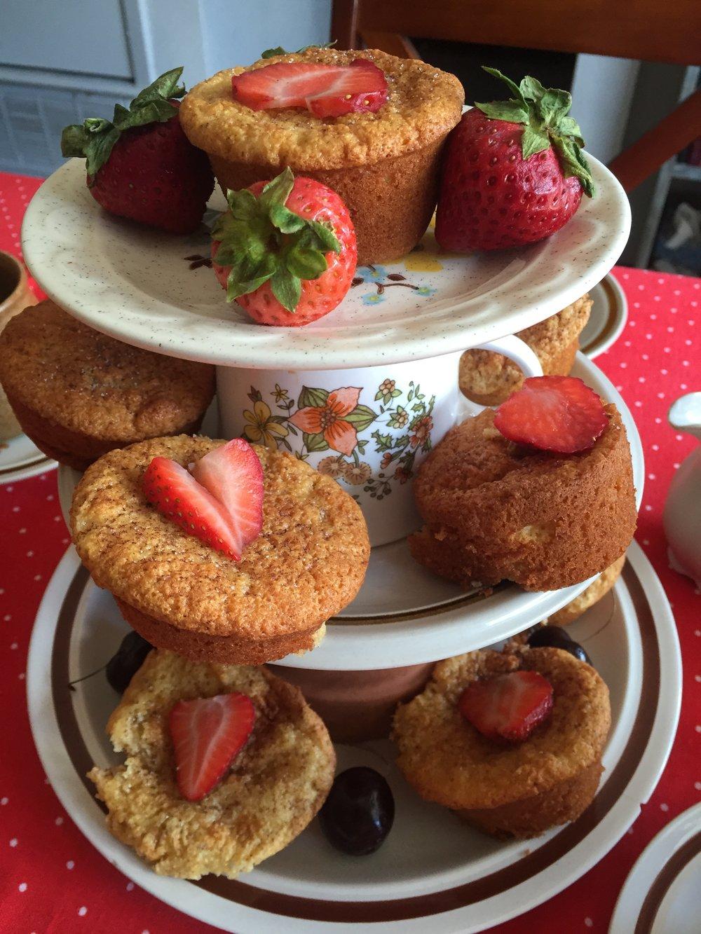 Close up of cupcake tower