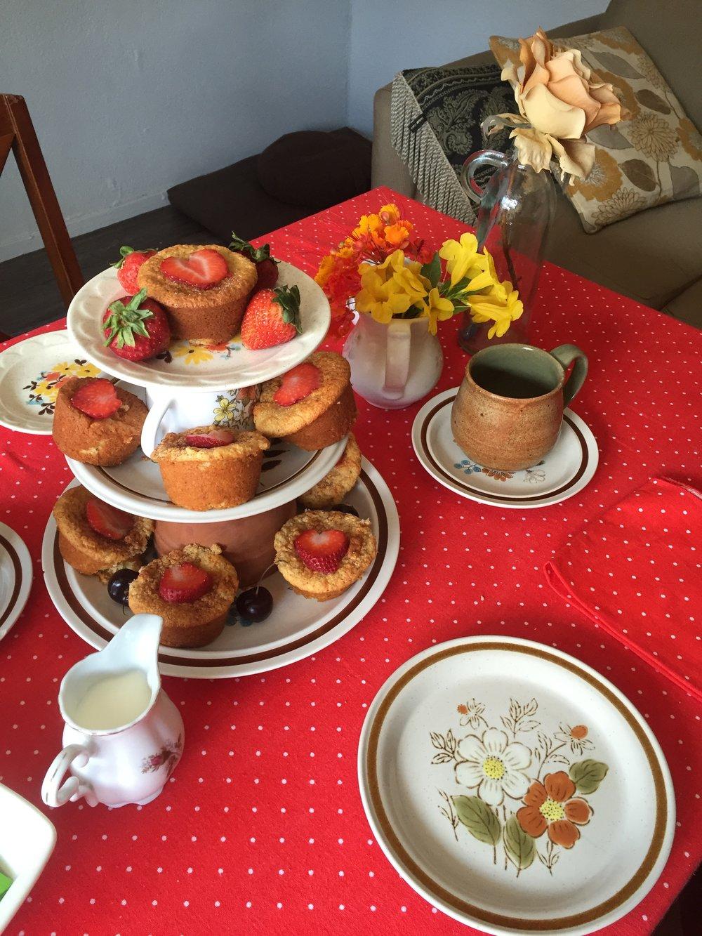 Tea party cupcake tower