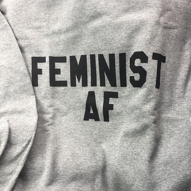 """I am super pumped about my new sweatshirt (and free surprise sticker!) from @pinkboxstudio !! I recently went on a little experimental outing to a @bossbabesatx event called State of the Uterus. There were tons of women artists selling intersectional feminist swag in a """"Resistance Market,"""" and it got me SOOO excited. What a fun and positive thing to make! So I bought some things from a local artist and then hit up Etsy to find this! I am really thinking about experimenting with screen printing and embossing some magical woman-positive bizness. #excited #inspiration #feminist #art #maker #crafts #screenprinting #stateoftheuterus2018 #bossbabesatx #bbatx #resist #intersectionalfeminism #experiment #experimentsinvitality #etsy"""