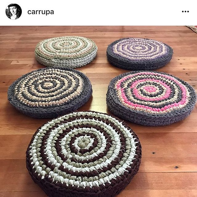 And now a shout out to a woman artist I personally know!! My friend Laura @carrupa from back in my Pacific Northwest days is making these upcycled, 100% cotton floor cushions by hand to support her family. Great for meditation and hanging out. Check out her post and message her to get one: @carrupa #supportwomenartists #art #boho #bohochic #upcycle #crochet #zafu #meditation #craft #handmade #pacnw
