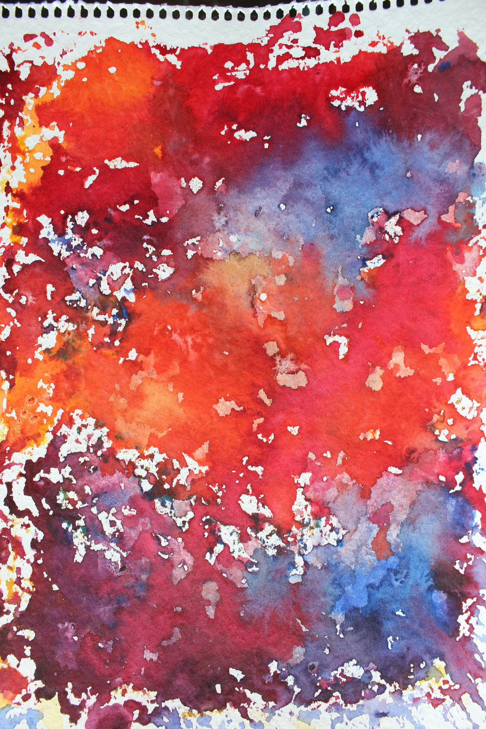 watercolor red blue purple orange bright colorful painting diy project