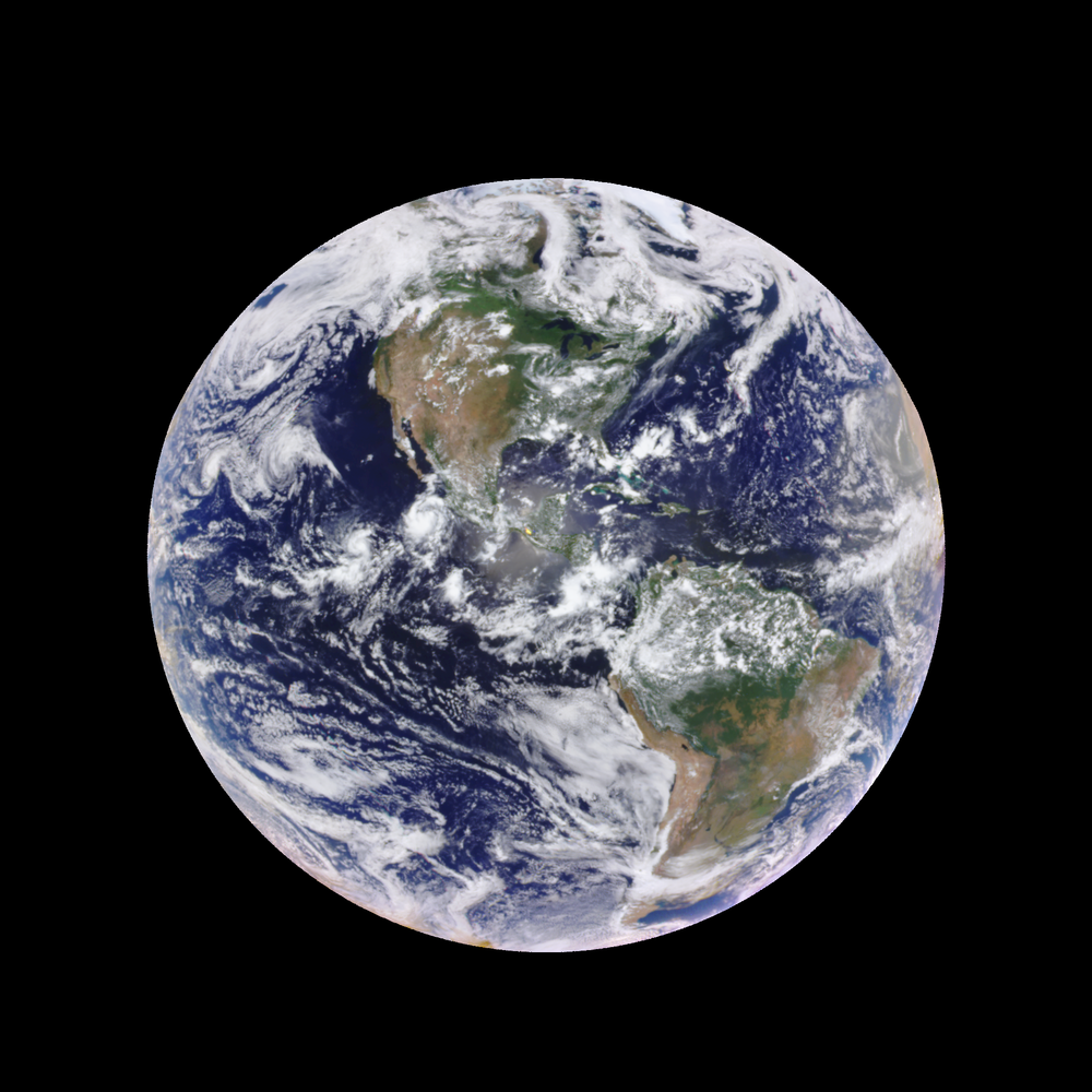 Planet Earth as seen from the DSCOVR satellite.