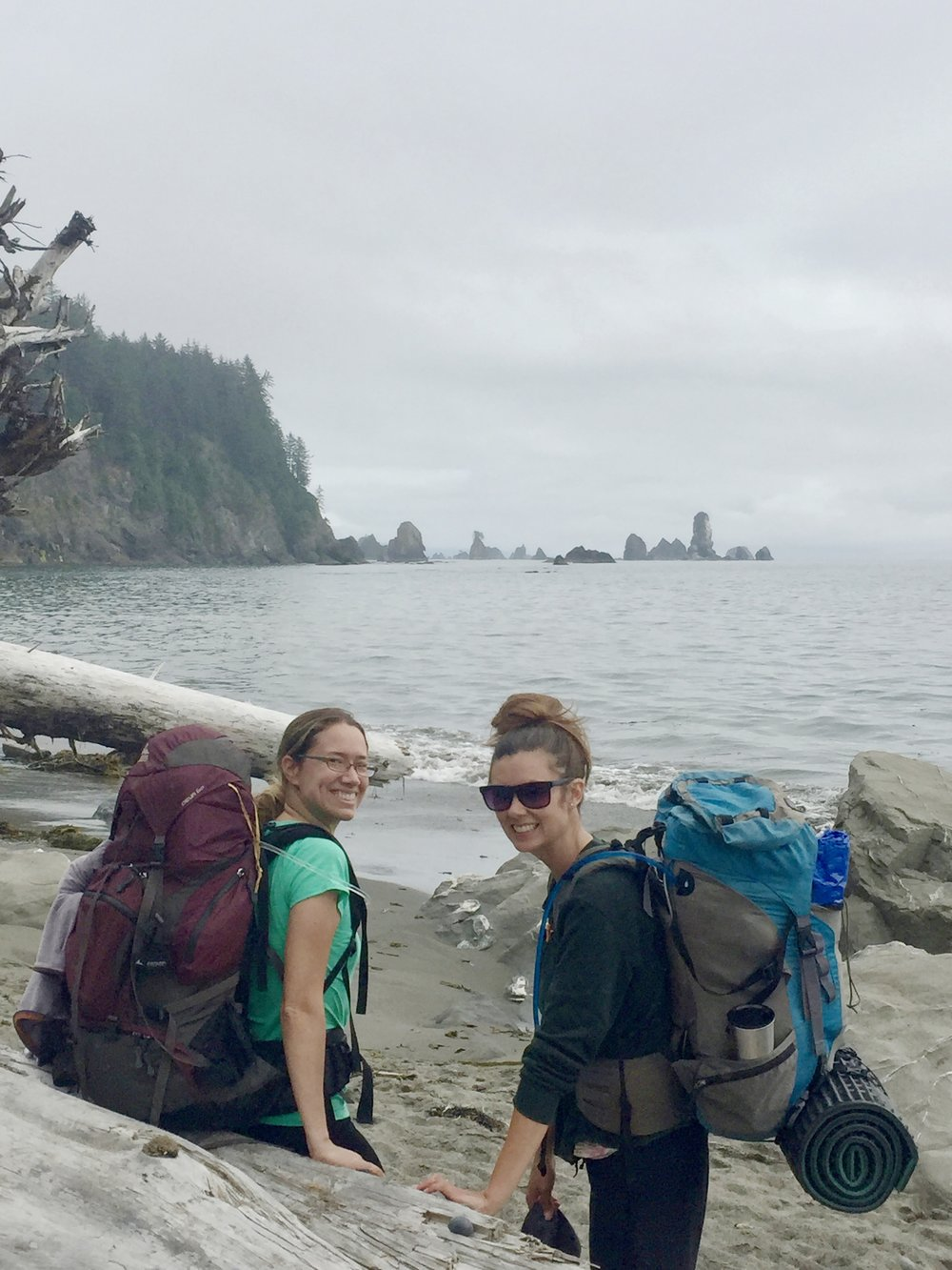 Erin (right) and I just had another laid-back adventure backpacking down the Olympic Coast this summer.