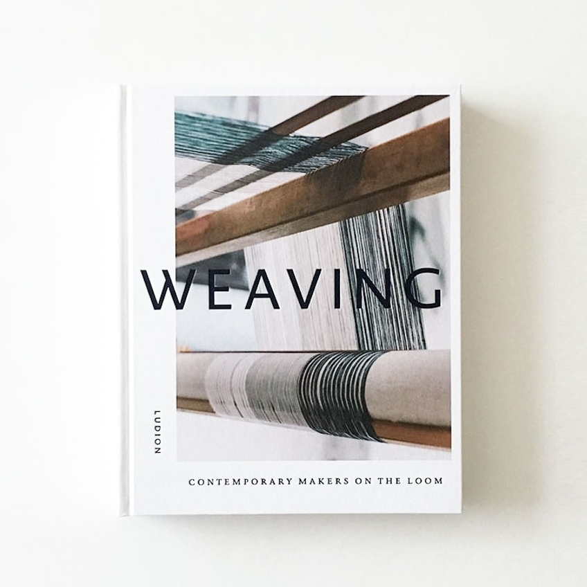 """WEAVING""/ book  a cover photo for a book ""WEAVING"" published by LUDION."