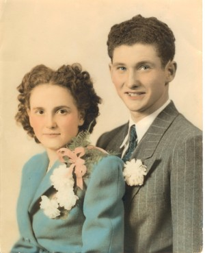 Parents on their wedding day in 1946