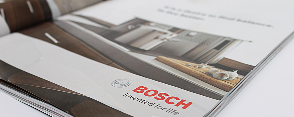 BOSCH | luxury home kitchen appliances | magazine ad for global product launch
